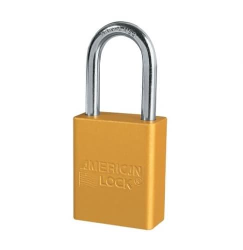 American Lock Yellow Safety Lockout Solid Aluminum Padlock