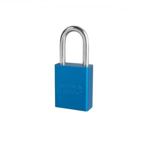 American Lock Blue 5 Pin Keyed Different Solid Aluminum Padlock