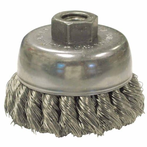 Anderson Brush 2.75 Inch Diameter Knot Wheel Brush with .014 Inch Carbon Steel Wire