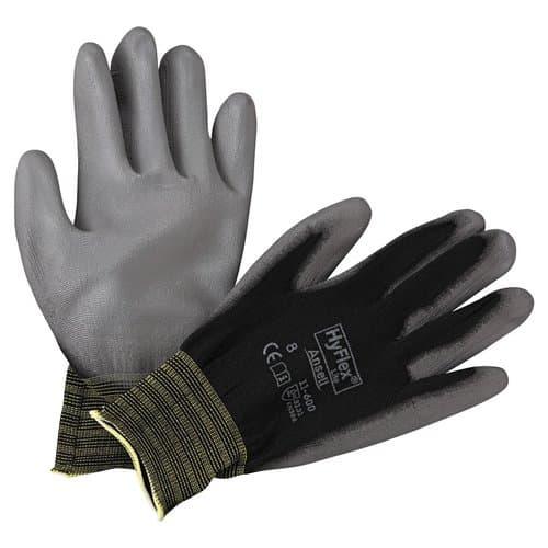 Ansell Size 8 Black/Gray HyFlex Lite Gloves