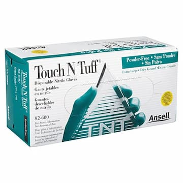Ansell Size 9.5-10 4 Mil Powder Free Touch N Tuff Disposable Gloves