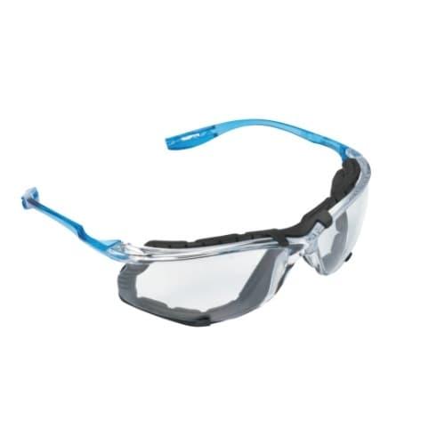 Virtua CCS Safety Glasses, Clear Lens w/ Blue Frame