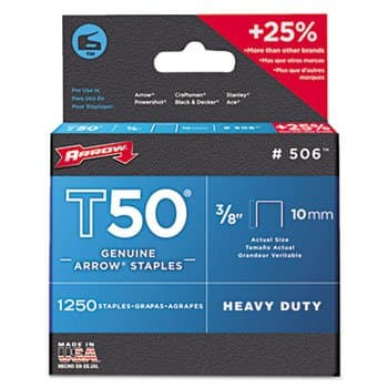 Arrow 1/2 IN (12 mm) T50 Heavy Duty Genuine Arrow Staples