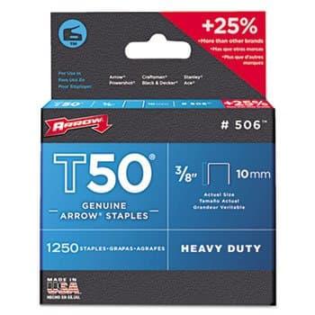 Arrow 3/8 IN (10 mm) T50 Heavy Duty Genuine Arrow Staples
