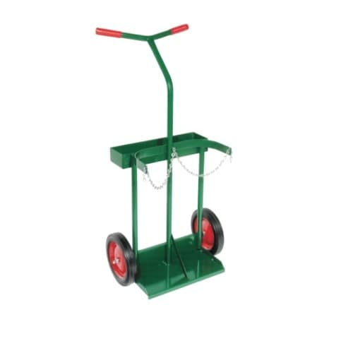 Anthony Welded Dual Handle Welding Cart, Dual Cylinder, 10-in Wheel