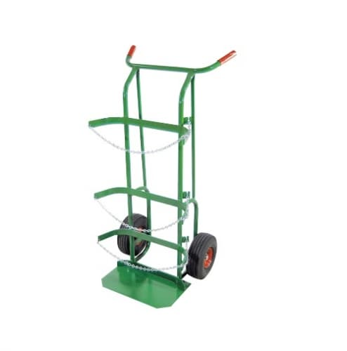 Anthony Welded Delivery Cart, Dual-Cylinder, 10-in Wheel