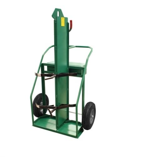 Anthony Welded Firewall Hand Truck, Dual Cylinder, 900 lb Load Capacity, 16-in Wheel