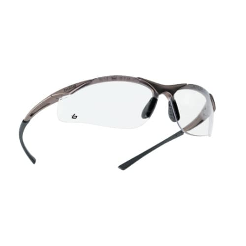 Bolle Safety Contour Series Safety Glasses, Black w/ Clear Lens