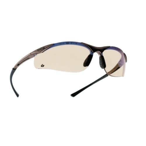 Bolle Safety Contour Series Safety Glasses, Black w/ ESP Lens