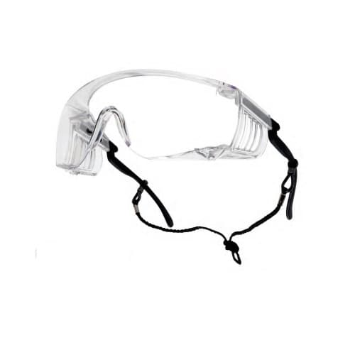 Bolle Safety Override Series Safety Glasses, Clear Lens
