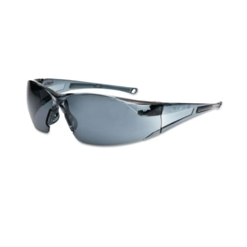 Bolle Safety Rush Series Safety Glasses, Smoke Frame & Lens