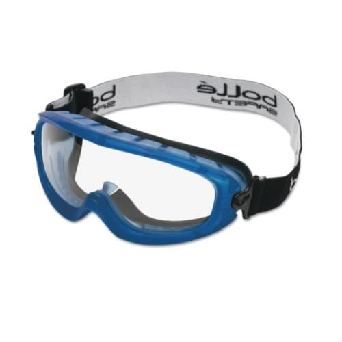 Bolle Safety Atom Series Safety Glasses, Clear & Blue Lens