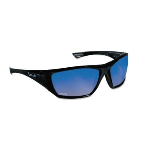 Bolle Safety Hustler series Safety Glasses, Black w/ Polar Lens