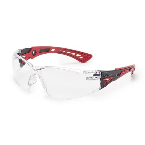 Bolle Safety Safety Glasses, Anti-Fog/Anti-Scratch, Clear