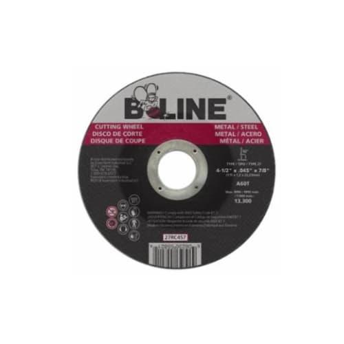 Bee Line Abrasives 4.5-in Depressed Center Cutting Wheel, 60 Grit, Aluminum Oxide, Resin Bond