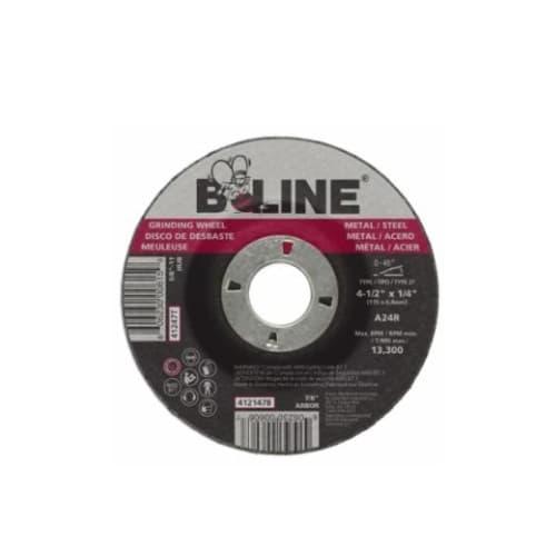 Bee Line Abrasives 4.5-in Depressed Center Grinding Wheel, 24 Grit, Aluminum Oxide, Resin Bond