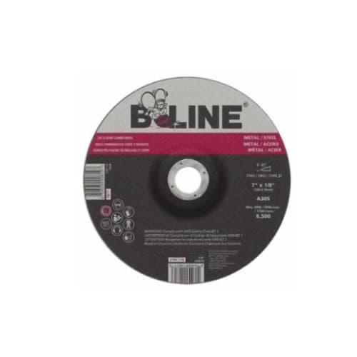 Bee Line Abrasives 7-in Depressed Center Combo Wheel, 30 Grit, Aluminum Oxide, Resin Bond