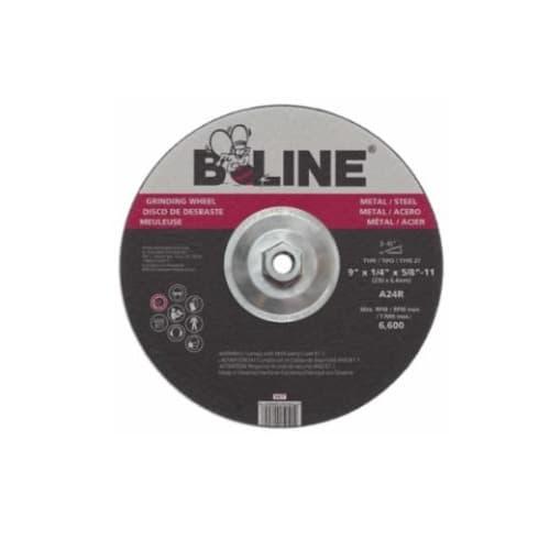 Bee Line Abrasives 9-in Depressed Center Grinding Wheel, 30 Grit, Aluminum Oxide, Resin Bond