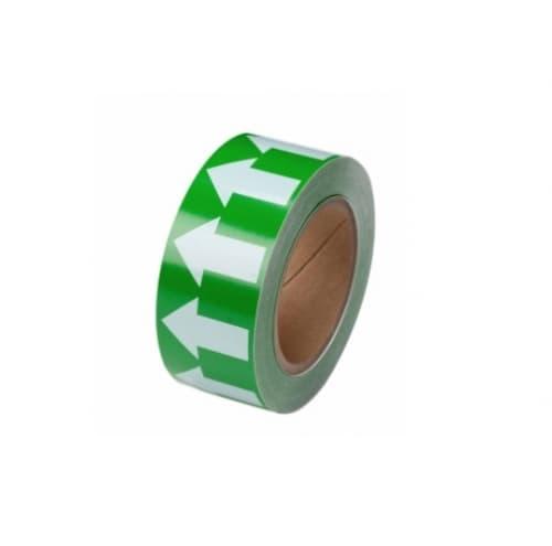 Brady 2-in Pipe Marker Tape with Arrows, Green