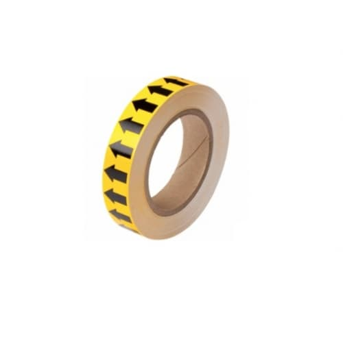 Brady 1-in Pipe Marker Tape with Arrows, Yellow