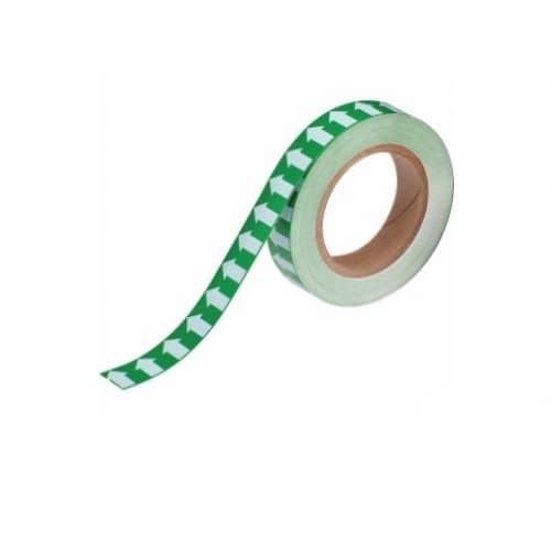 Brady 1-in Pipe Marker Tape with Arrows, Green