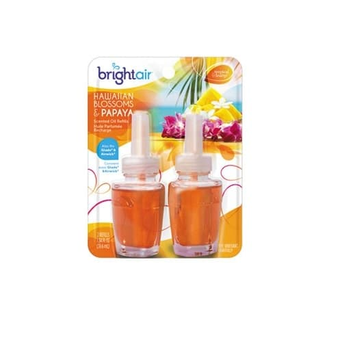 Bright Air Air Freshener Oil Refill, Hawaiian Blossom & Papaya, 2-Pack