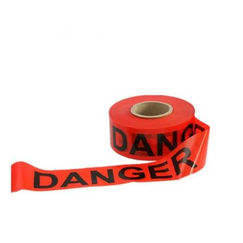 Berry Plastics Danger Do Not Enter Tape, Red, 3'' wide, 1000'