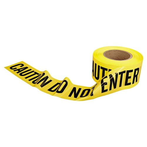 "Berry Plastics 3"" X 1000' Caution Do Not Enter Barrier Safety Tape"