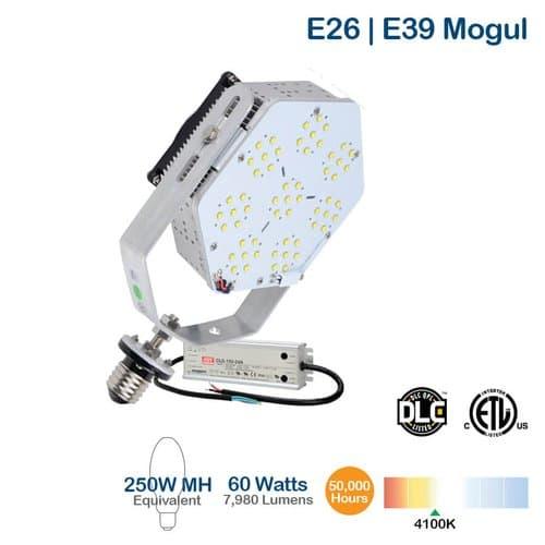 NovaLux 60W LED Shoebox Retrofit Kit, 175W MH/HID Retrofit, 7980 Lumens, 4000K