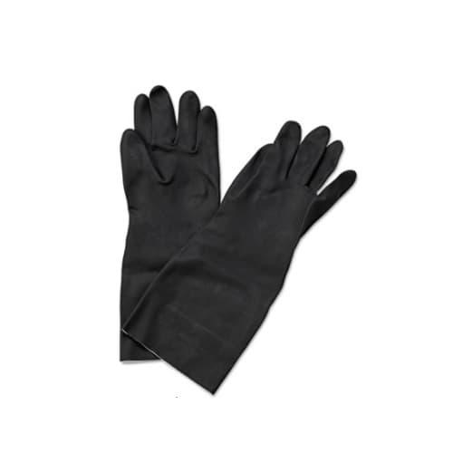 Boardwalk Neoprene Flock-Lined Gloves, Long-Sleeved, Large, Black