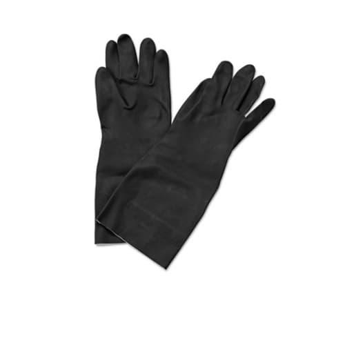 Boardwalk Neoprene Flock-Lined Gloves, Long-Sleeved, Medium, Black