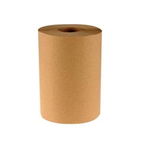 Boardwalk 800-ft Non-Perforated Hardwound Roll Towels, 1-Ply, Kraft, Natural