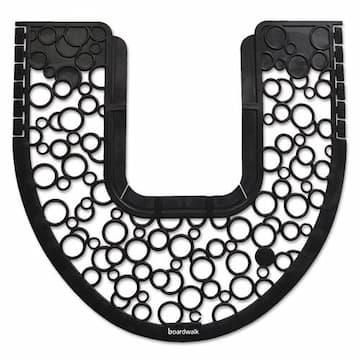 Boardwalk Black/White Non-slip Commode Mat 6-count