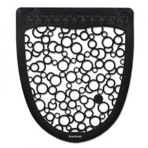 Boardwalk Gray/White Non-slip Urinal Mat 6-count