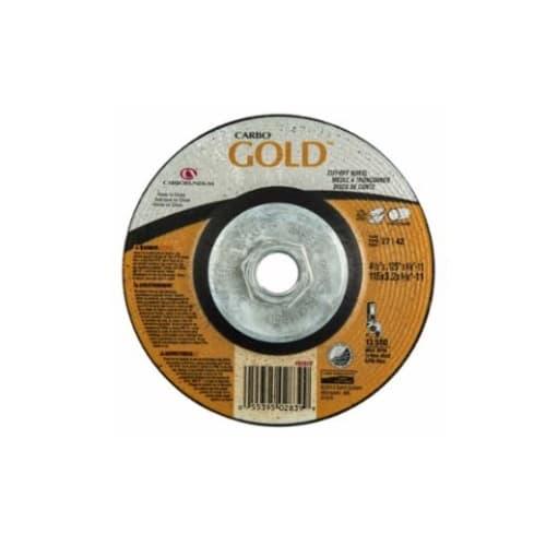 Carborundum 4.5-in A24 Gold Depressed Center Cutting Wheel, 24 Grit, Aluminum Oxide