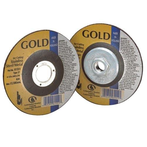 """Carborundum Depressed Center 4.5"""" 24 Grit Aluminum Abrasive Disc"""
