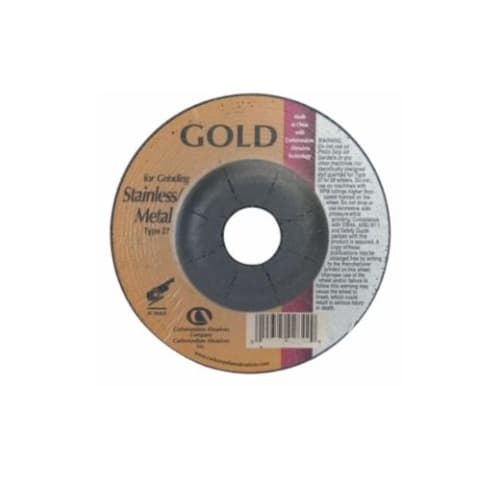 Carborundum 5-in A24 Gold Depressed Center Grinding Wheel, 24 Grit, Aluminum Oxide, Resin Bond