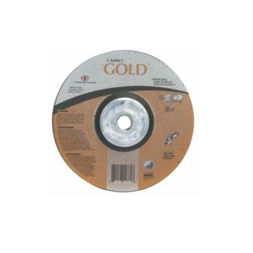 Carborundum 7-in A24 Gold Depressed Center Grinding Wheel, 24 Grit, Aluminum Oxide, Resin Bond