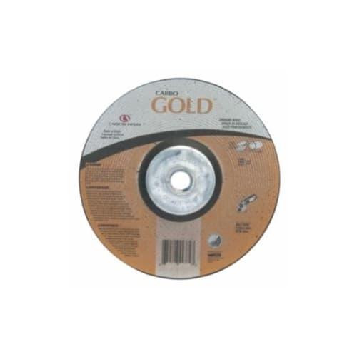 Carborundum 9-in A24 Gold Depressed Center Grinding Wheel, 24 Grit, Aluminum Oxide, Resin Bond