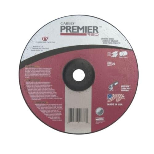 Carborundum 4.5-in Depressed Center Grinding Wheel, 24 Grit, Zirconia Alumina