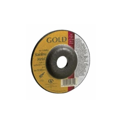 Carborundum 5-in A24 Gold Depressed Center Combo Wheel, 24 Grit, Aluminum Oxide