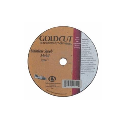 Carborundum 4-in A36 Gold Flat Cutting Wheel, 36 Grit, Aluminum Oxide