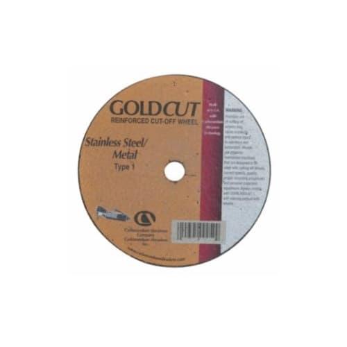 Carborundum 4-in A60 Gold Cutting Wheel, 60 Grit, Aluminum Oxide