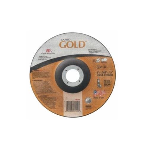 Carborundum 6-in Carbo GoldCut Depressed Center Cutting Wheel, 30 Grit, Aluminum Oxide, Resin Bond