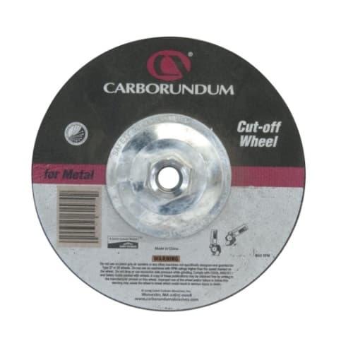 Carborundum 4.5-in Depressed Center Cutting Wheel, 24 Grit, Aluminum Oxide