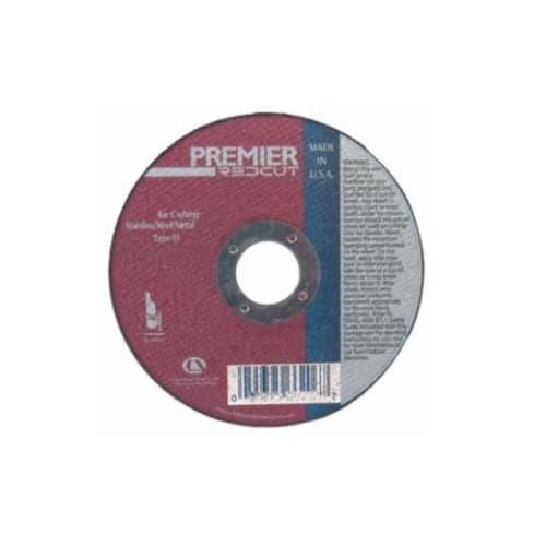 Carborundum 4.5-in Premier Depressed Center Cutting Wheel, 60 Grit, Aluminum Oxide, Resin Bond