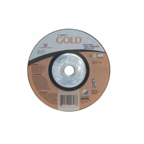 Carborundum 4.5-in Carbo GoldCut Depressed Center Cutting Wheel, 30 Grit, Aluminum Oxide, Resin Bond