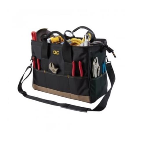 Custom LeatherCraft 16-in BigMouth® Tool Bag, 22 Pockets, Black
