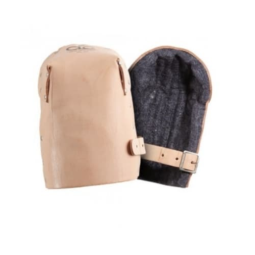 Heavy Duty Knee Pads, Leather, Tan