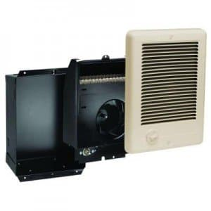 Com-Pak Series Wall Heater, Complete Unit with Thermostat, 1000 Watts at 240V, Almond